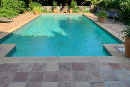 Terrasse traditionnelle carreaux & polyester